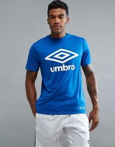 Футболка с крупным логотипом Umbro - Синий