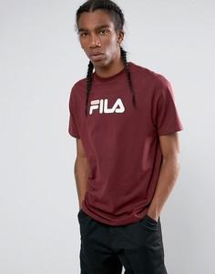 Бородовая футболка с логотипом в стиле ретро Fila - Красный