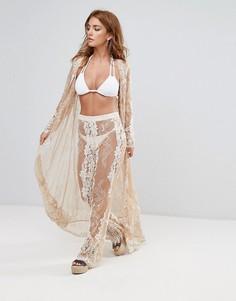 Кружевные пляжные брюки Missguided Premium - Белый