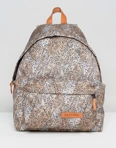 Рюкзак с леопардовым принтом Eastpak PakR - Коричневый