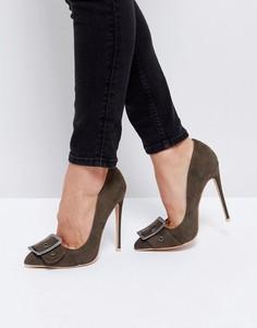 Туфли-лодочки с пряжкой Public Desire - Зеленый