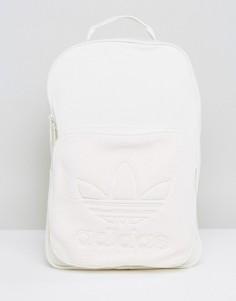 Флисовый рюкзак кремового цвета Adidas Originals - Белый
