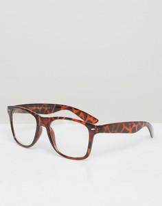 Коричневые квадратные очки 7X - Коричневый