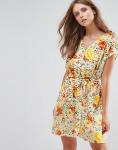 Платье с цветочным принтом Anmol - Желтый