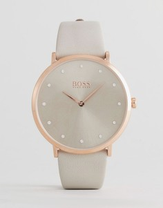 Часы с серым кожаным ремешком BOSS By Hugo Boss 1502412 Jillian - Серый