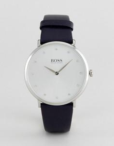 Часы с темно-синим кожаным ремешком BOSS By Hugo Boss 1502410 Jillian - Темно-синий