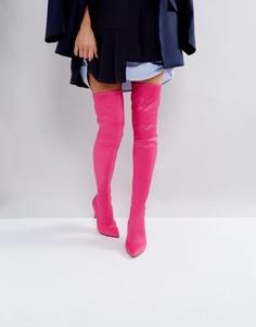Ботфорты с острым носком ASOS KINDY - Розовый