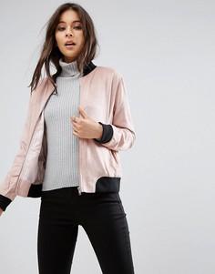 Куртка из искусственной замши в рубчик Missguided - Розовый