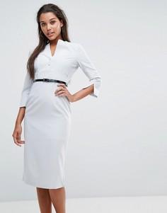 Платье-футляр с поясом Millie Mackintosh Layla - Серый