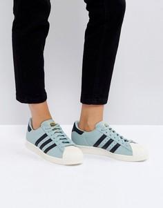Зеленые кроссовки adidas Originals Superstar 80S - Зеленый