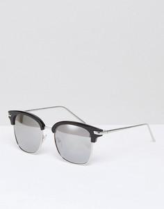 Черные солнцезащитные очки в стиле ретро с зеркальными стеклами AJ Morgan - Черный