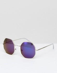 Круглые солнцезащитные очки AJ Morgan Otto - Серебряный