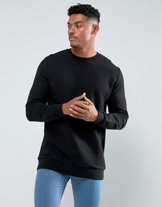 Длинный черный свитшот ASOS - Черный