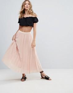 Плиссированная юбка макси Deby Debo 123 - Розовый