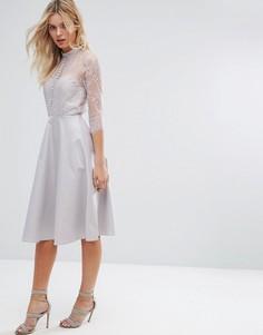 Кружевное платье Y.A.S - Серый