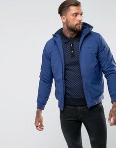 Синяя стеганая куртка с капюшоном Fred Perry Brentham - Синий
