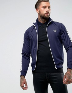 Синяя спортивная куртка с кантом Fred Perry Laurel Wreath - Синий