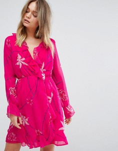 Чайное платье с принтом и оборками Vero Moda - Мульти
