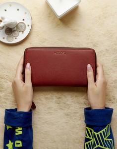 Большой кошелек с круговой молнией Calvin Klein - Красный