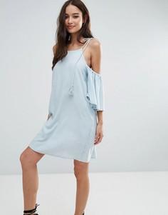 Платье с открытыми плечами Influence - Синий