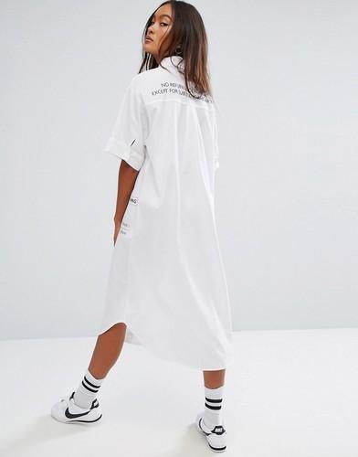 Платье-рубашка с принтом STYLENANDA - Белый