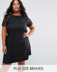 Свободное платье с кружевными рукавами Praslin - Черный