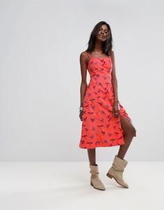 Платье миди Free People - Красный
