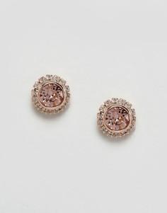 Серьги-гвоздики цвета розового золота Ted Baker - Золотой
