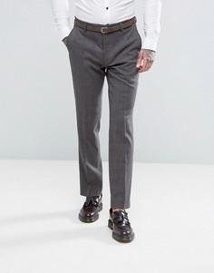 Облегающие брюки в клетку Harry Brown - Серый