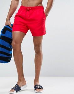 Шорты для плавания с затягивающимся шнурком Calvin Klein Core - Красный