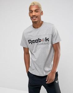 Серая футболка Reebok BQ2624 - Серый