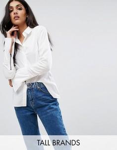 Рубашка с расклешенными манжетами Noisy May Tall - Белый