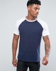 Бейсбольная футболка с рукавами реглан Another Influence - Темно-синий