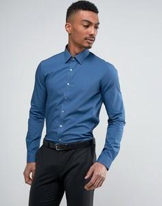 Эластичная приталенная рубашка Calvin Klein - Синий