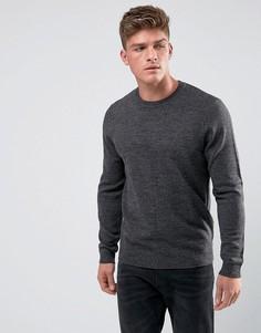 Темно-серый джемпер с круглым вырезом ASOS - Серый
