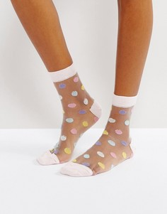 Полупрозрачные носки в горошек ASOS - Мульти