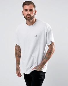 Оверсайз-футболка с вышитой долькой арбуза New Love Club - Серый