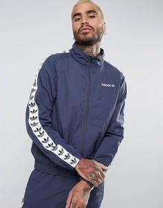 Синяя спортивная куртка-ветровка с отделкой adidas Originals Adicolor TNT BR2277 - Синий