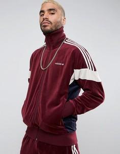 Красная велюровая спортивная куртка adidas Originals CLR84 BS4669 - Красный