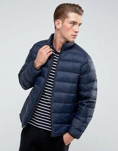 Темно-синяя стеганая куртка Abercrombie & Fitch - Темно-синий