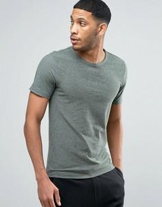 Меланжевая футболка Produkt - Серый