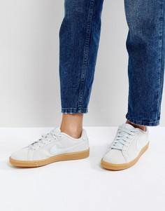 Серебристые замшевые кроссовки Nike Court Royale - Серебряный