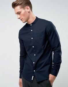 Темно-синяя оксфордская рубашка без воротника Original Penguin - Темно-синий