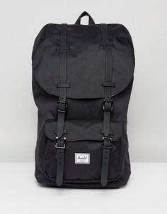 Черный рюкзак с резиновыми ремешками Herschel Supply Co Little America - Черный