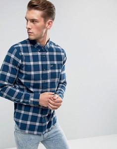 Темно-синяя облегающая рубашка в клетку Hollister - Темно-синий