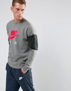 Серый свитшот с круглым вырезом Nike Air 861622-091 - Серый