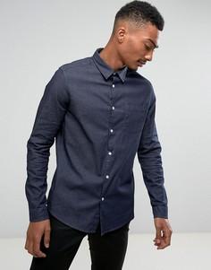 Эластичная джинсовая рубашка Burton Menswear - Синий