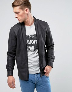 Кожаная куртка на молнии Diesel L-Dread - Черный
