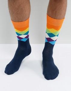 Носки в ромбик Happy Socks - Мульти