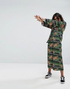 Фестивальные зеленые брюки с принтом тигров RAGYARD - Зеленый